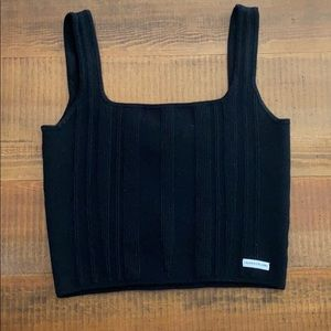 Calvin Klein square neck crop top
